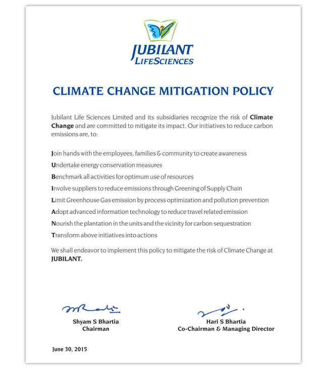 Climate Change Mitigation Policy