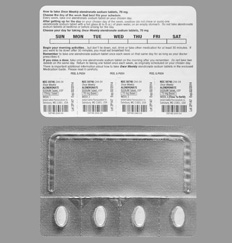 How long does Alendronate Sodium 70 mg stay in your system